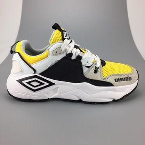 Umbro Run M Black Yellow White Gray Running Shoe